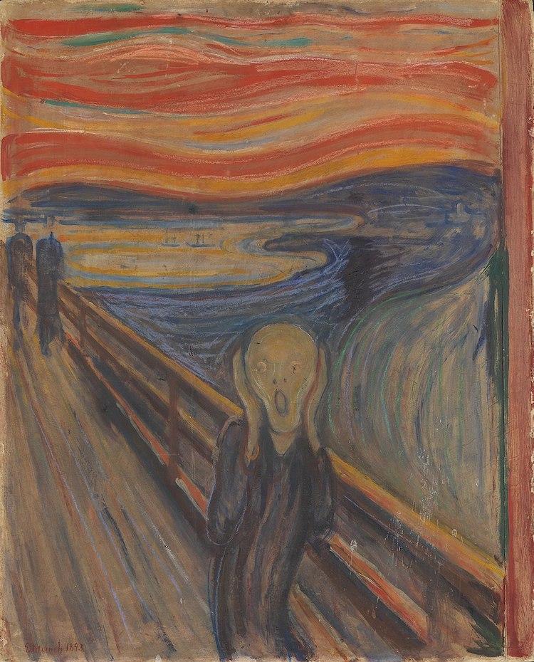 Arte Terrorífico Pinturas Terrorificas El Grito Edvard Munch