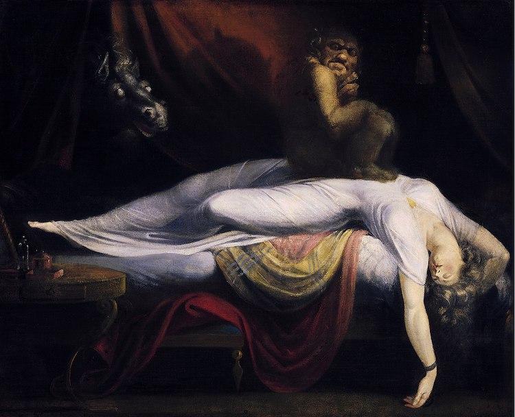 Arte Terrorífico Pinturas Terrorificas La Pesadilla por Henry Fuseli