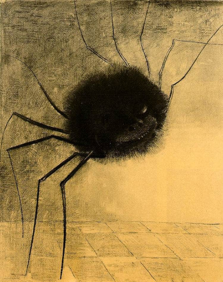 Scary Art Scary Paintings Odilon Redon Smiling Spider