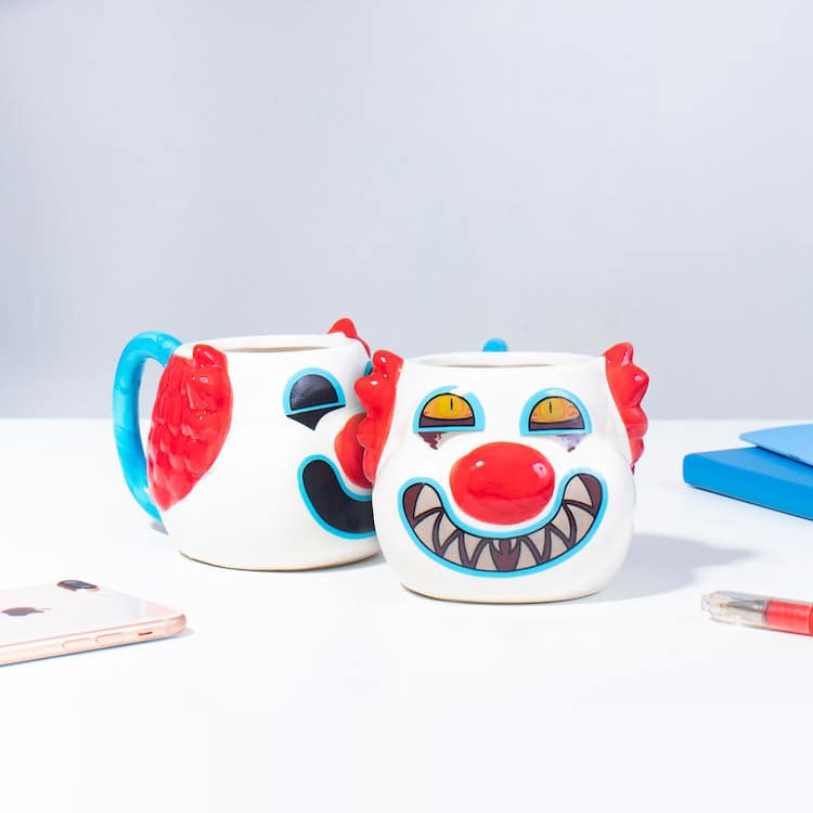 Scary Clown Heat Changing Mug