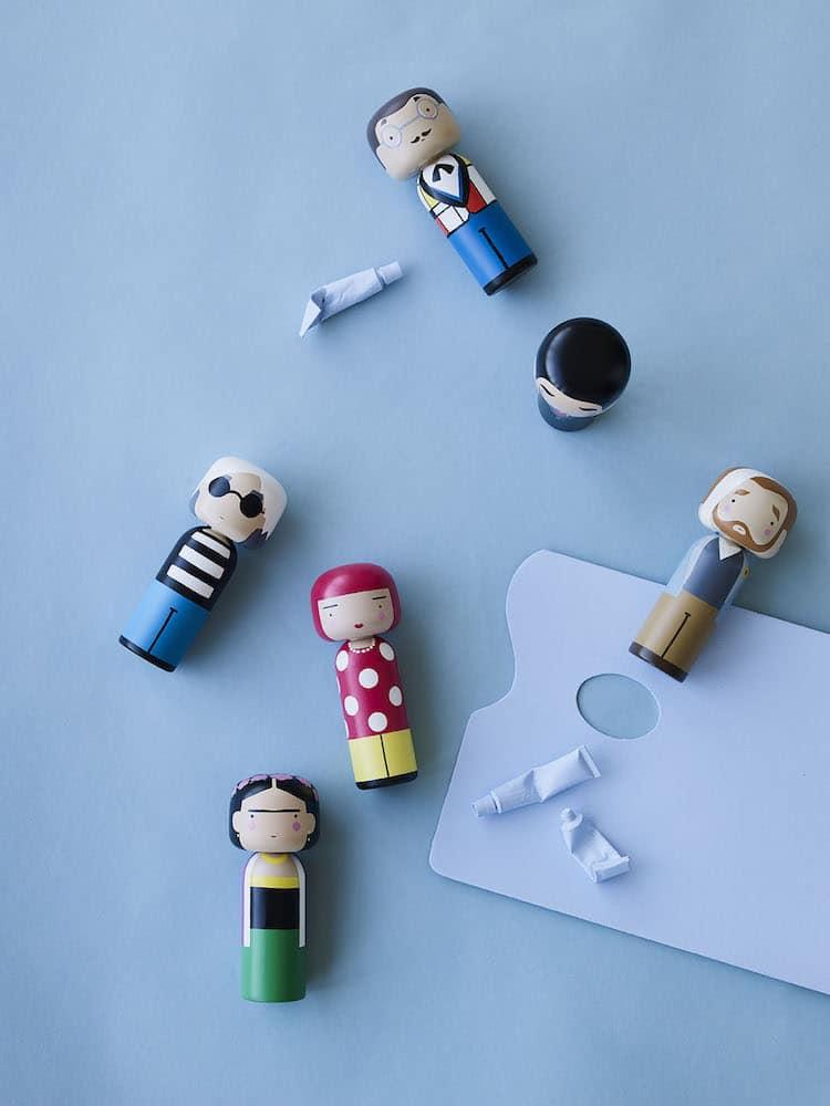 Muñecas Kokeshi Modernas Muñecas Kokeshi de Artistas