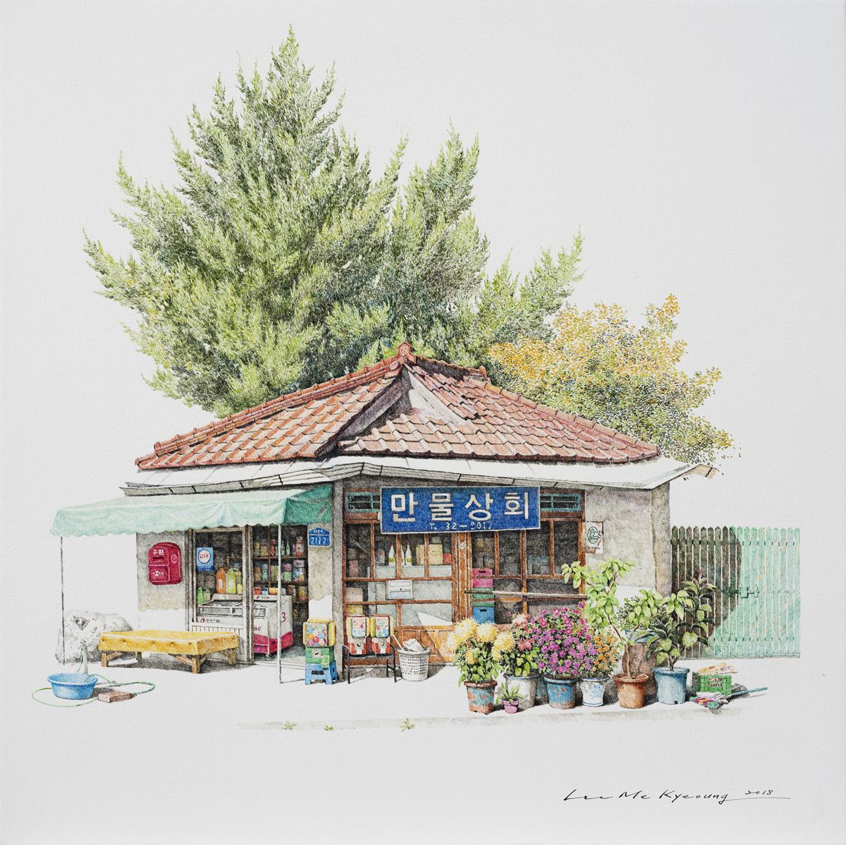South Korean Convenience Store Drawings by Me Kyeoung Lee