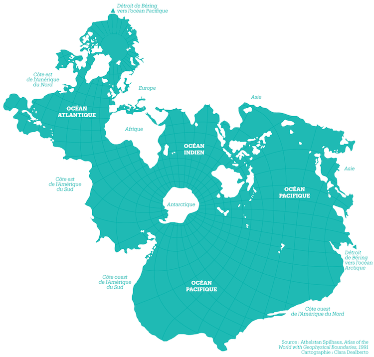 Spilhaus Projection Ocean Map Cartographic Projection