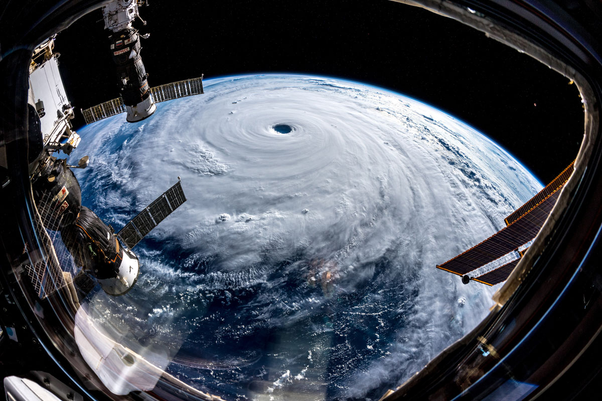 Photo of Super Typhoon Trami from Outer Space