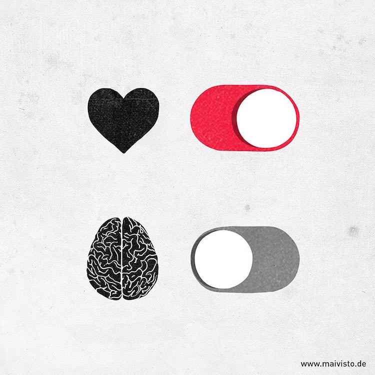 Thought Provoking Minimalist Illustration by Sergio Ingravalle