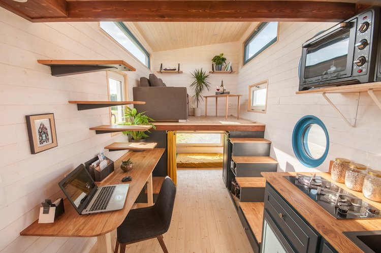 Tiny Home Designs: Stylish 140-Foot Tiny Home On Wheels Boasts Two Full Bedrooms