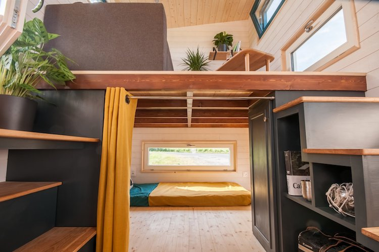 Stylish 140 Foot Tiny Home On Wheels Boasts Two Full Bedrooms