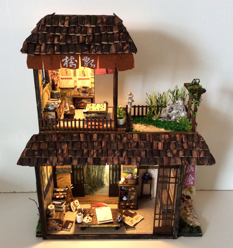 Folk Art SCHOOL HOUSE  Dollhouse Miniature Picture MADE IN USA FAST DELIVERY