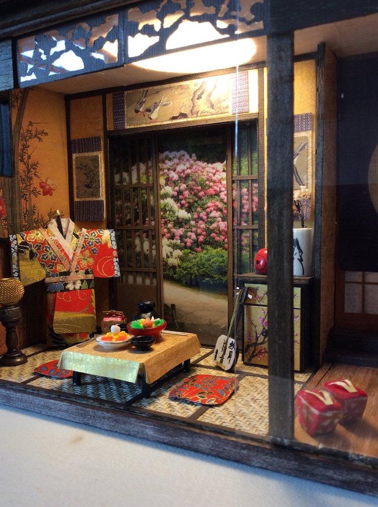 Maquetas de Casas Japonesas Tradicionales por Simon Lo