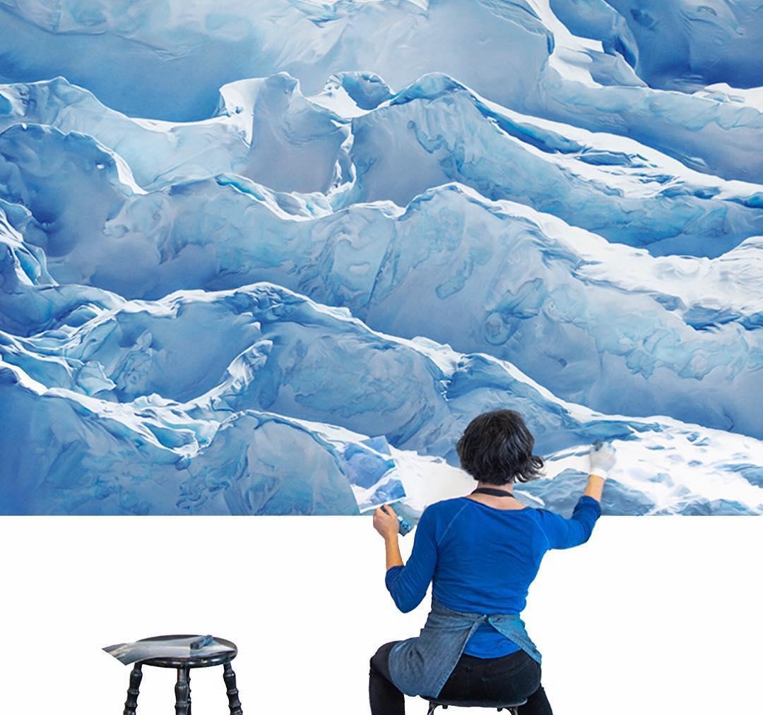 Dibujos en Pastel por Zaria Forman Cambio Climático