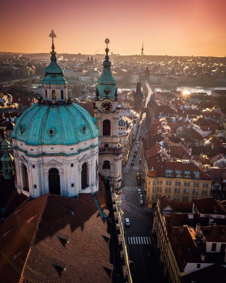 Drone Photo of Prague by Alan Brutenic