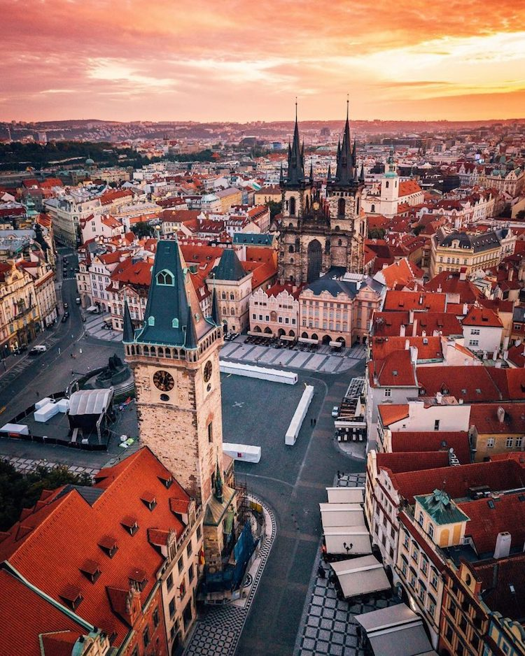 Aerial Photo of Prague by Alan Brutenic