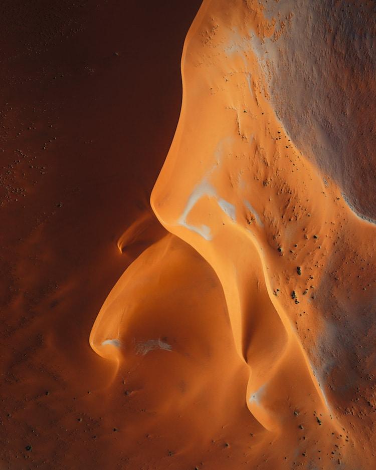 Fotos Aéreas Desierto de Namibia por Leah Kennedy