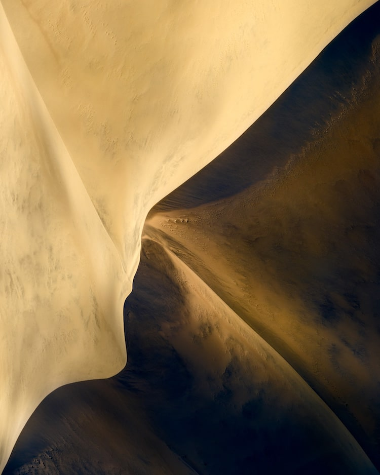 Aerial Photo of Namibia by Leah Kennedy