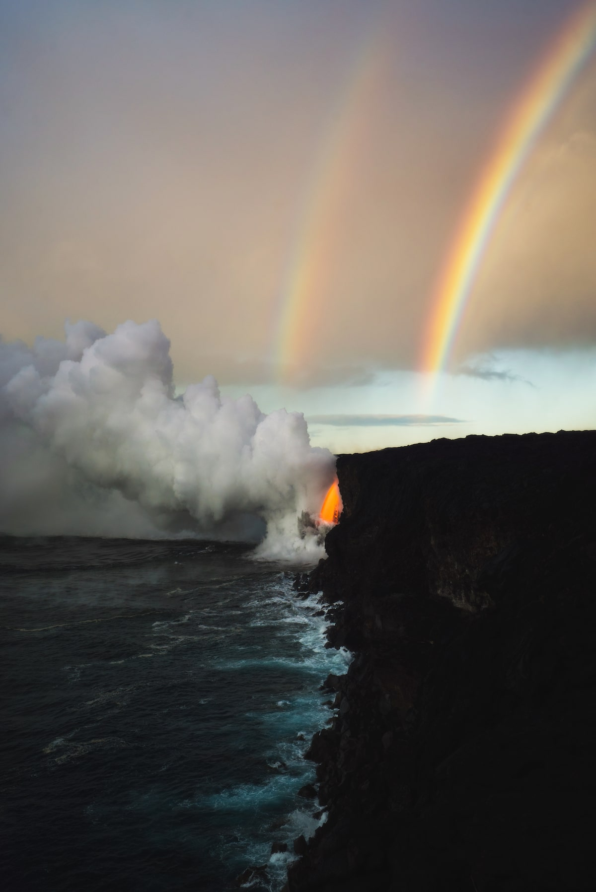 Photo of Rainbow and Lava Flow by Andrew Studer