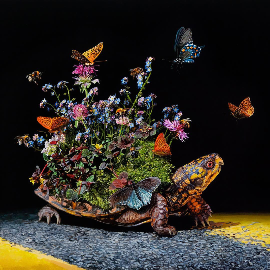 Animal Paintings Border Crossing by Lisa Ericson