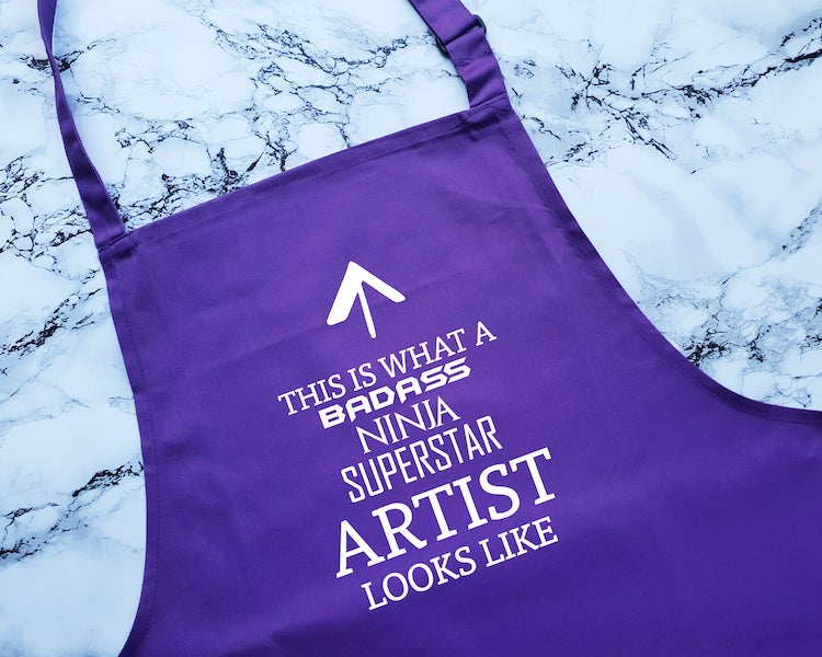 Artist Apron with Clever Saying