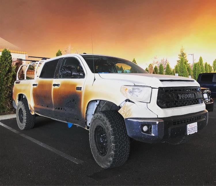 Allyn Pierce's Truck, a Hero Nurse of the California Fires