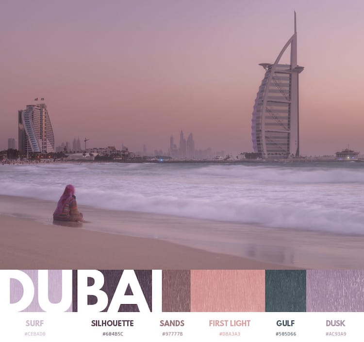 Color Palette of a City