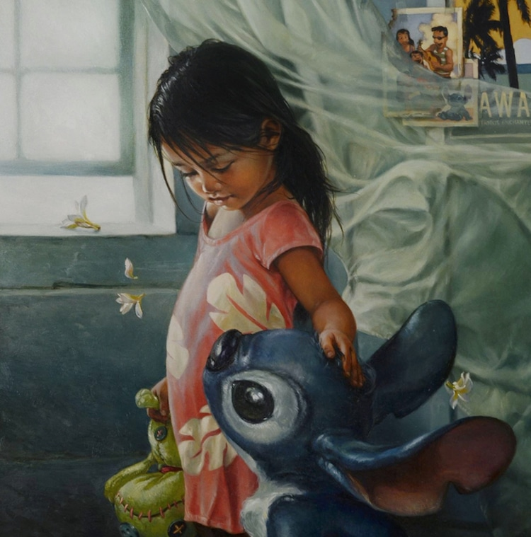 Disney Characters Oil Paintings by Heather Theurer