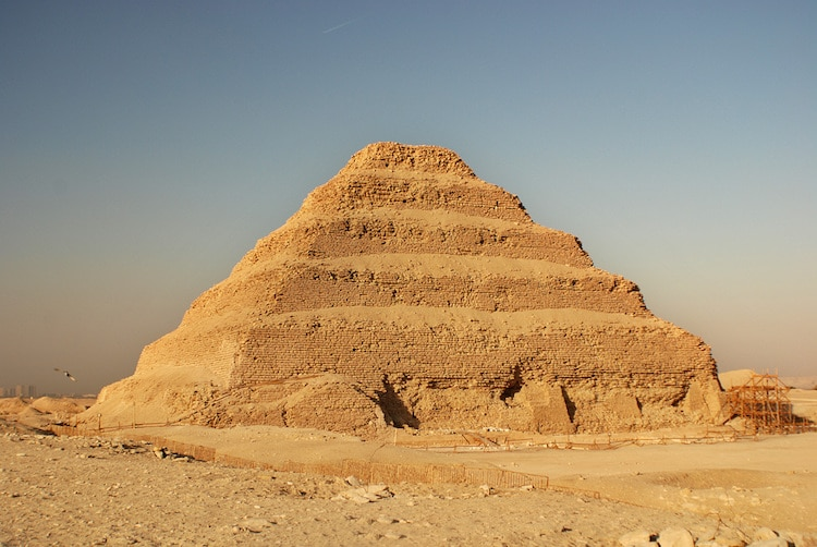 Ancient step pyramid in Saqqara,