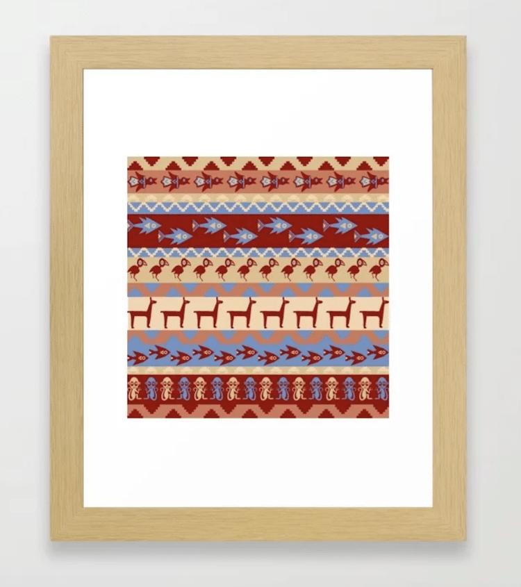 Folk Art Gifts Incan Pattern