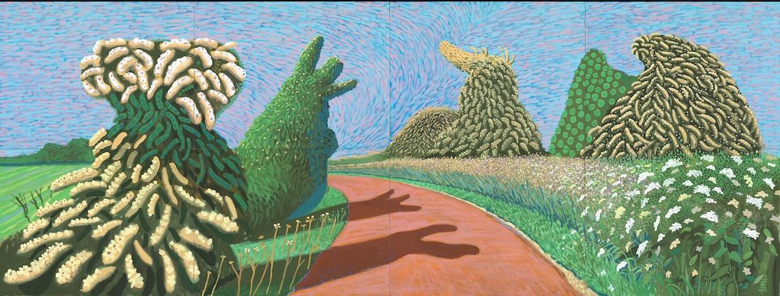David Hockney Van Gogh Joy of Nature Van Gogh Museum Hockney Exhibit