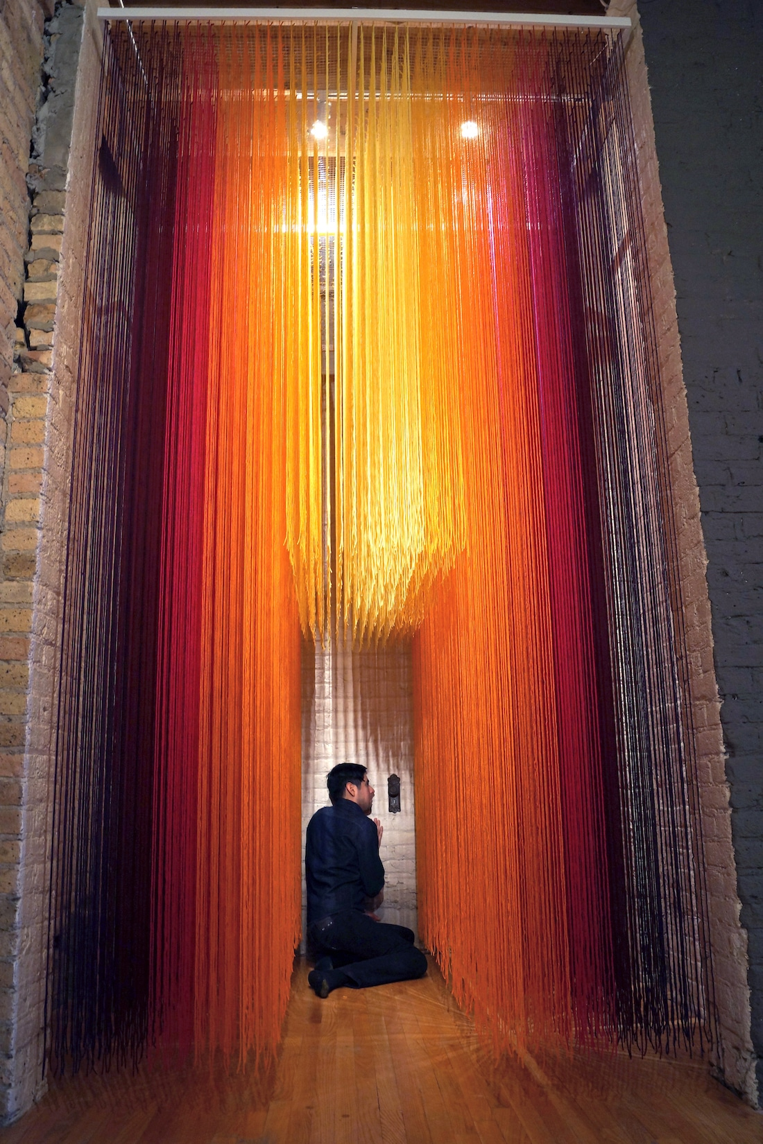 HOTTEA Yarn Installations Yarn Art