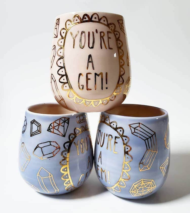 Ceramic Mugs by Silver Lining Ceramics