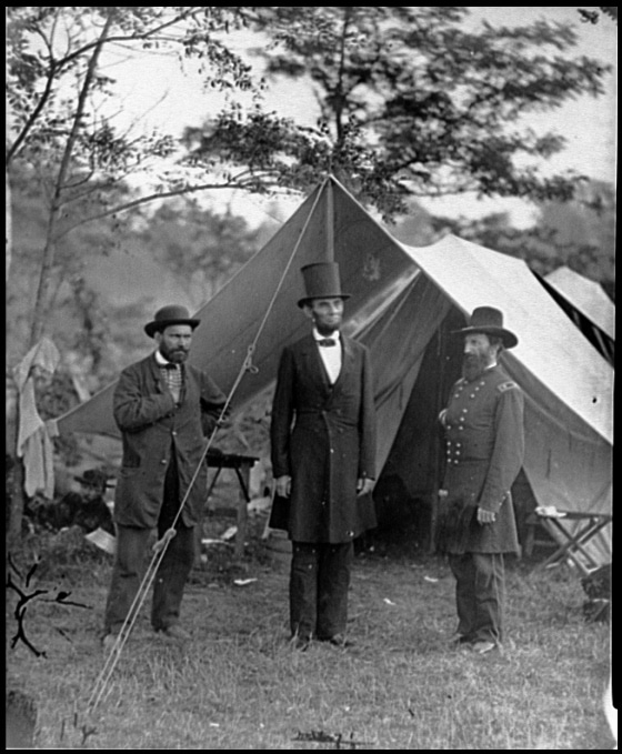 Abraham Lincoln at Antietam