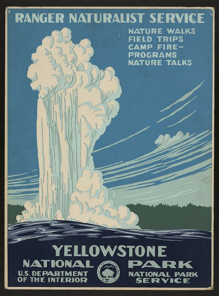 ellowstone National Park Vintage Travel Poster
