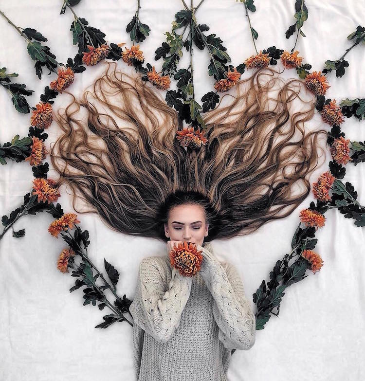 Long Hair Flat Lay Photos by Krissy Elisabeth