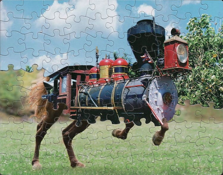 Artist Creates Surreal Montage Puzzle Art By Mixing Up The