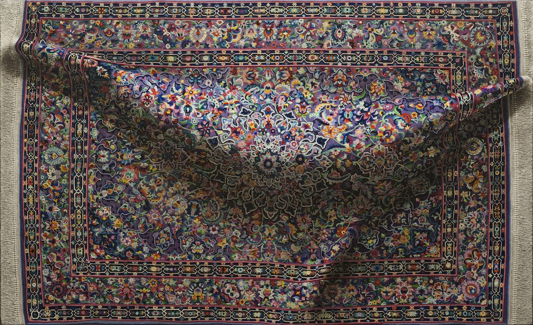 Patterned Carpets Figurative Paintings by Antonio Santin