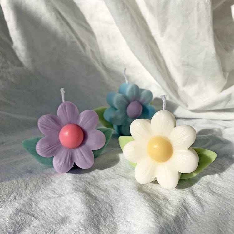 Flower Shaped Soy Wax Candle
