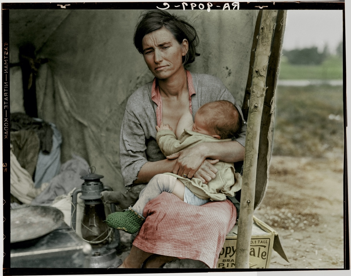 Colorized Version of Migrant Mother