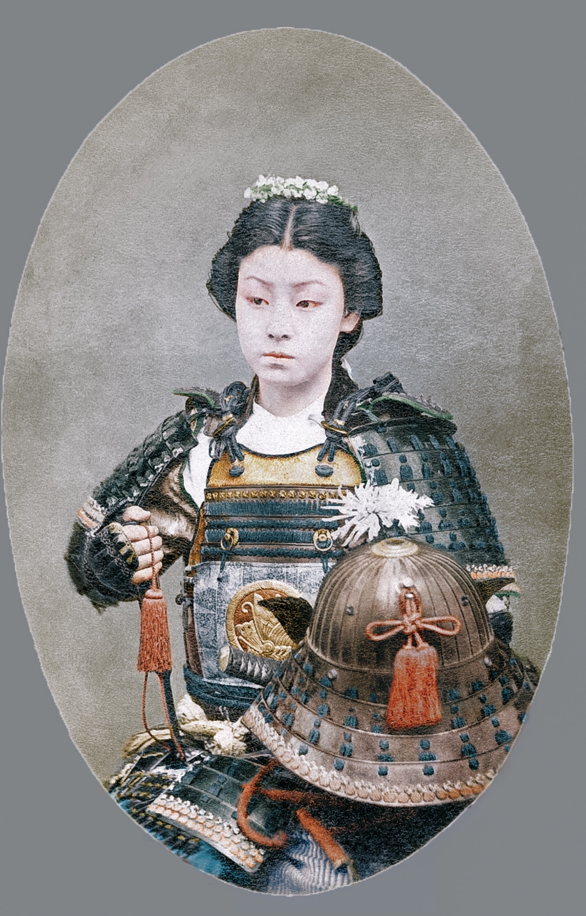 Colorized Photo of Female Samurai