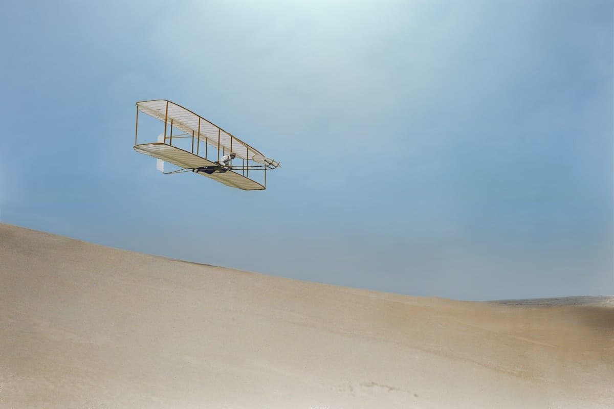 Colorized Photo of Wilbur Wright