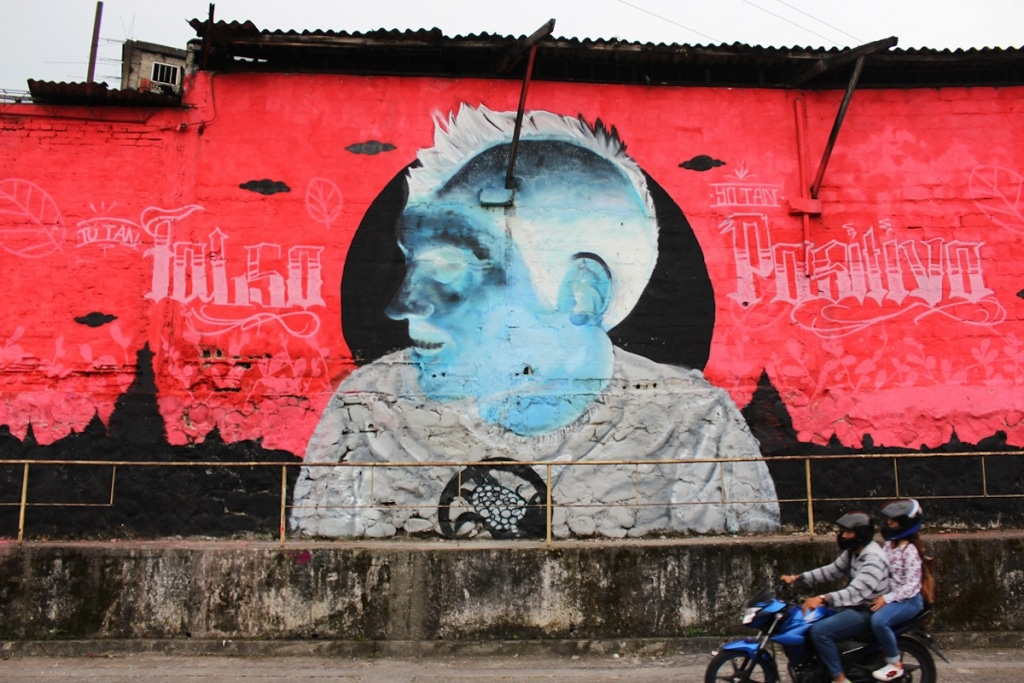 Sepc Murales Negativos de Colores Invertidos Arte Callejero