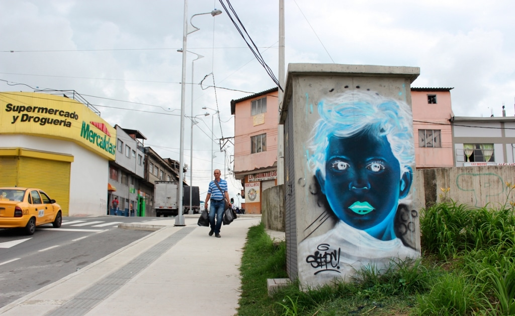 Negative Painted Street Art by Sepc