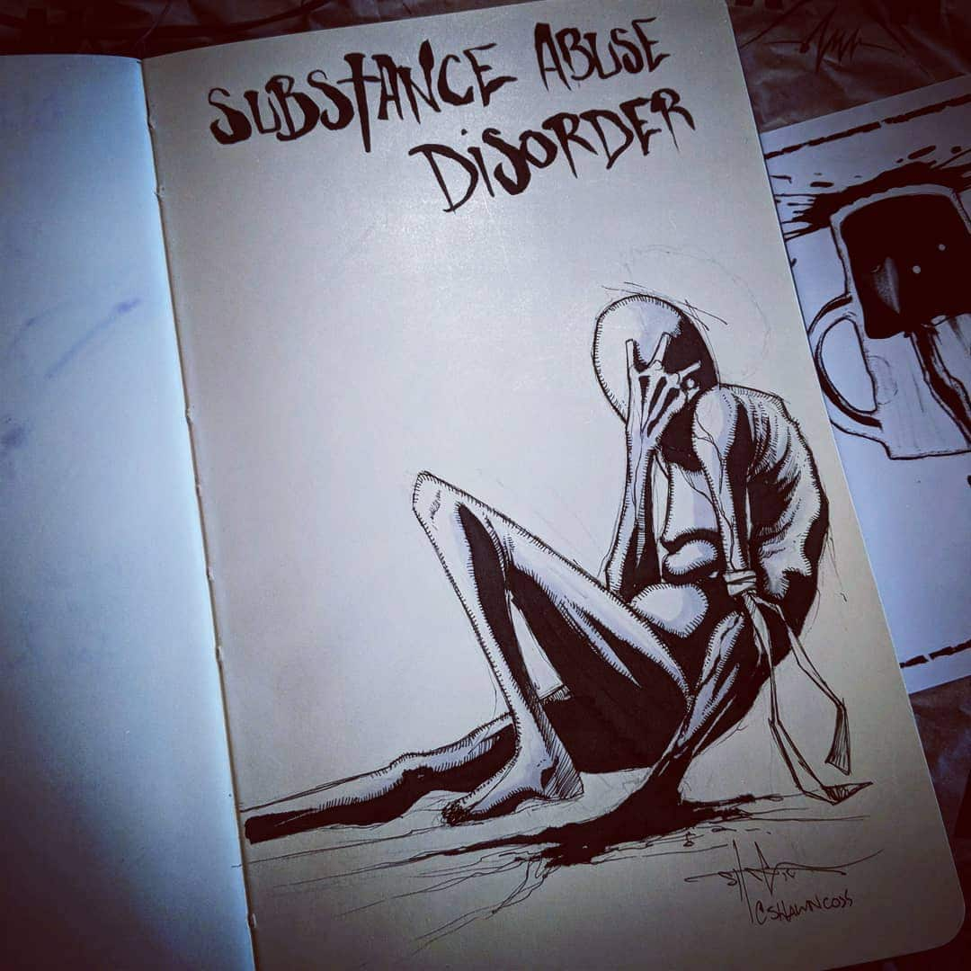 Inktober Mental Illness Art by Shawn Coss