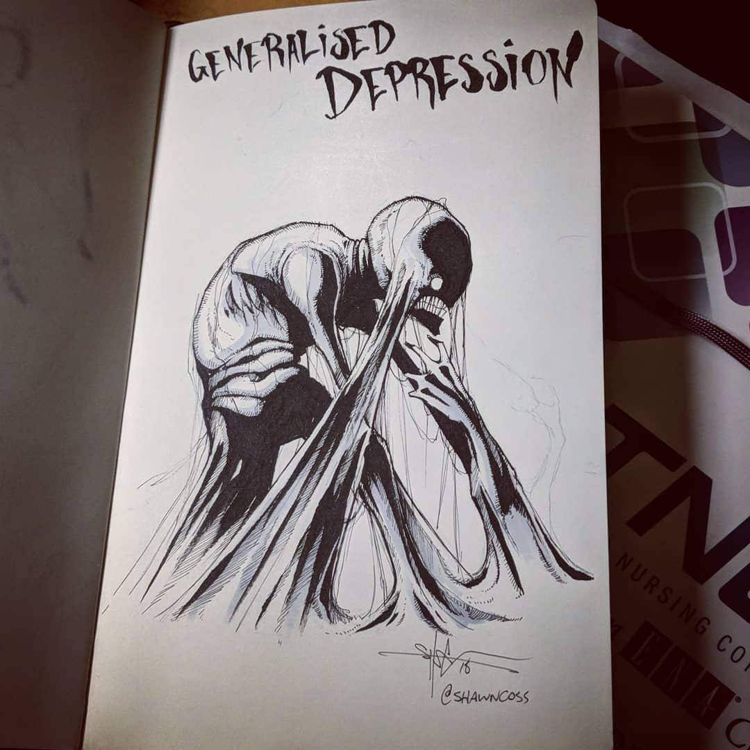 Mental Illness Art by Shawn Coss