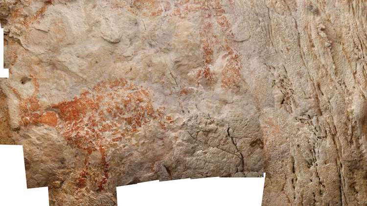 Cave Paintings in Borneo