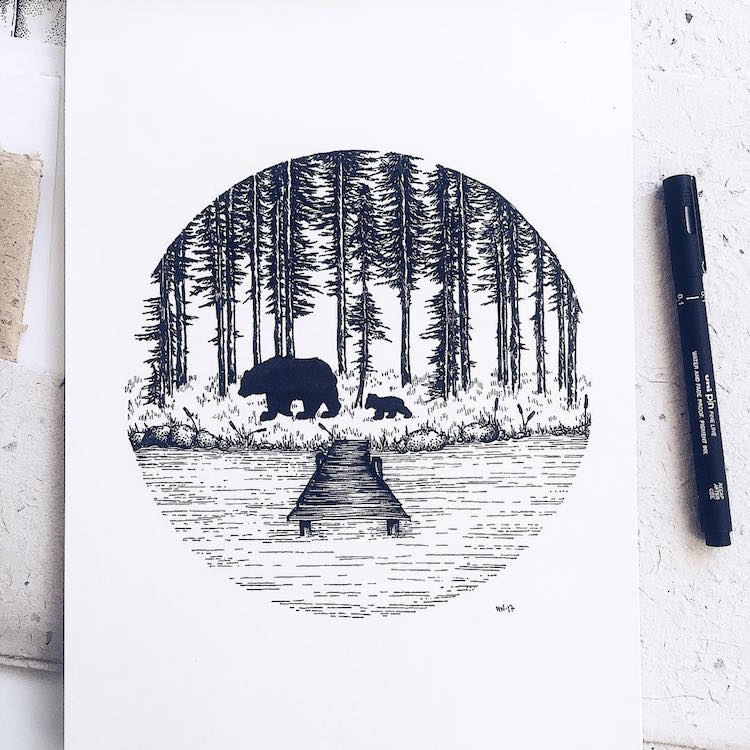 Stippling Art by Josefine Svärd