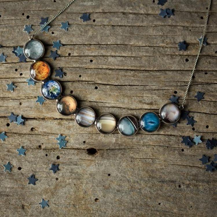 Joyería Espacial Joyería Inspirada en el Espacio Collar de Planetas Pendientes de Planetas