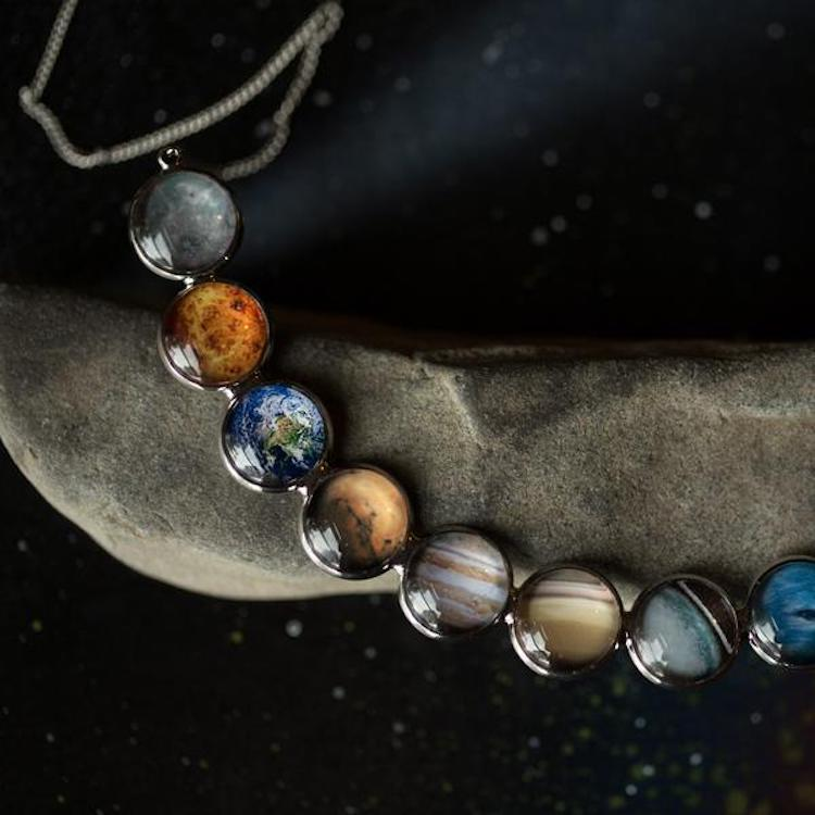 Planet Jewelry Planet Necklace Planet Earrings