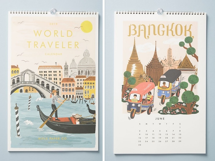 a31ea000b3cb 25 Creative 2019 Calendars to Keep Your Organized in the New Year