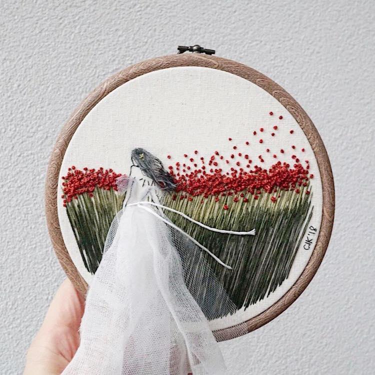 bordado 3D por Ceren Kayra Handmade