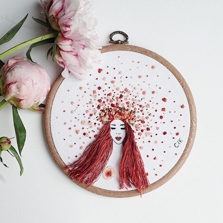 3D Embroidery by Ceren Kayra Handmade