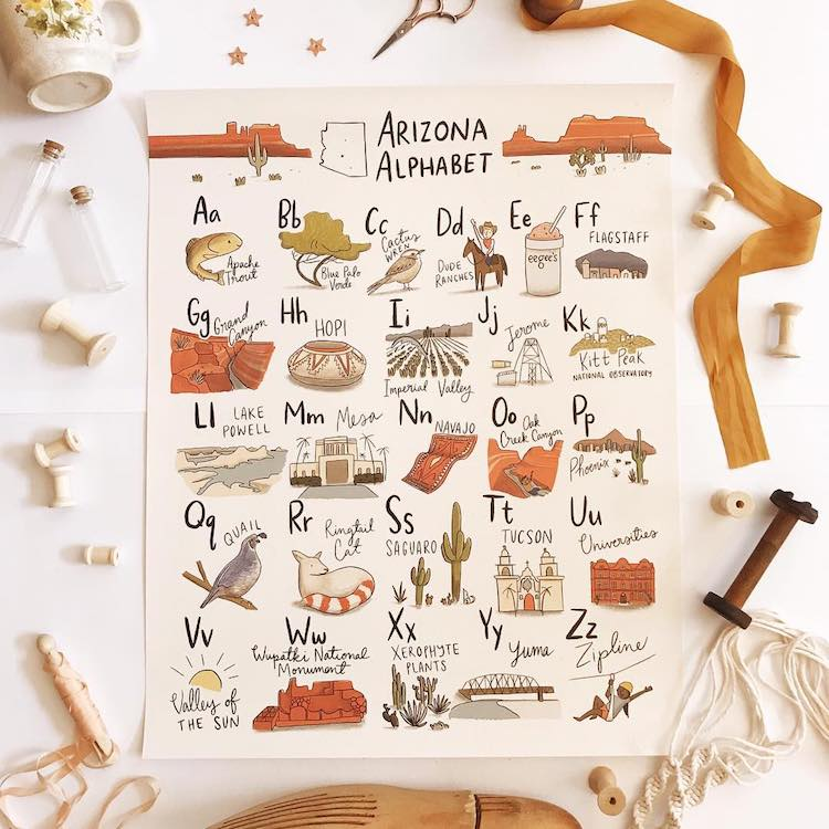 Arizona Alphabet by Abbie Paulhus